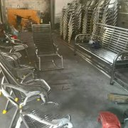 stainless steel pipe chair table ss410